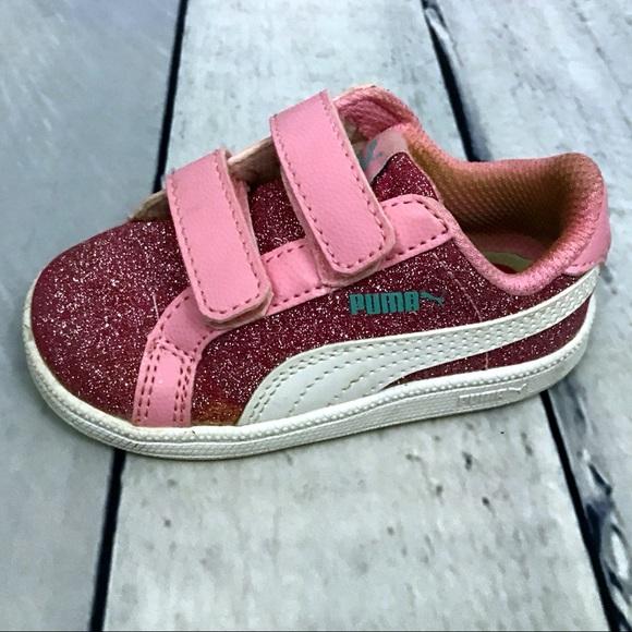 Sneaker 5 Poshmark Puma Velcro Shoes Strap Glitter Size Pink wwxBqUaX